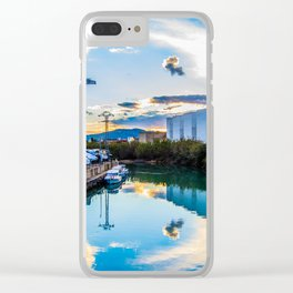 Seaport sunset Clear iPhone Case