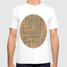 old page White MEDIUM Mens Fitted Tee