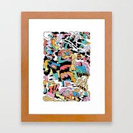 Electric Cliffs Framed Art Print