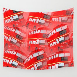 Red London Buses Wall Tapestry
