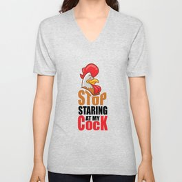 Penis cock blowjob cock Cock pun gift Unisex V-Neck