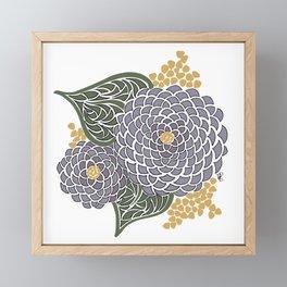 Geometric Flower Framed Mini Art Print