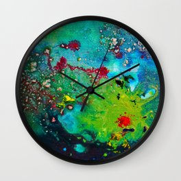 nature fever abstract paint Wall Clock
