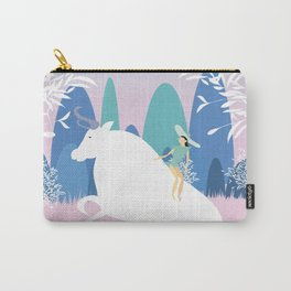 The Girl and the Bull in the Meadow Carry-All Pouch