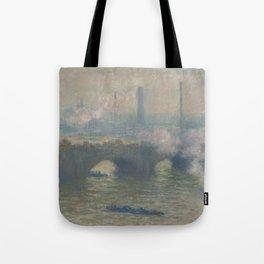 Waterloo Bridge Gray Day (1903) by Claude Monet Tote Bag