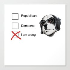 I am a dog Canvas Print