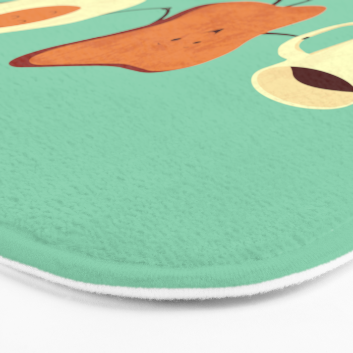Let's All Go And Have Breakfast Bath Mat