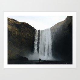 skogafoss, waterfall Art Print