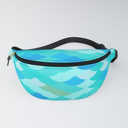 pattern scales, wave abstract simple Nature background mermaid Fanny Pack
