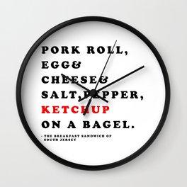 South Jersey Breakfast Wall Clock