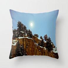 Snowy Night Throw Pillow