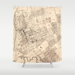 Vintage Map of Flushing NY (1894) Shower Curtain