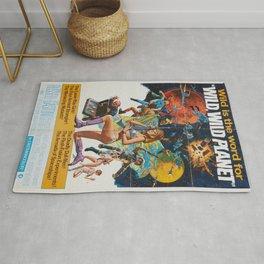 Wild Wild Planet 1965 Sci-Fi Precursor or Barbarella Queen Of The Galaxy Vintage Retro Movie Poster, Rug