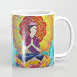 Frida Transcending Mandala and Lotus Blossom Coffee Mug
