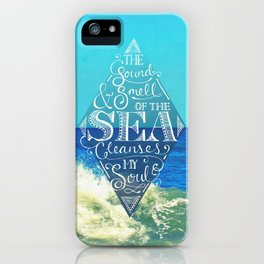 Sound and Smell of the Sea iPhone Case