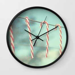 candy cane line Wall Clock