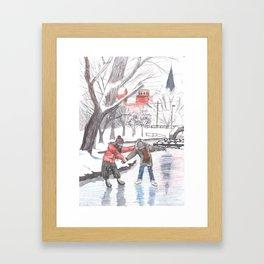 winter in baker park Framed Art Print