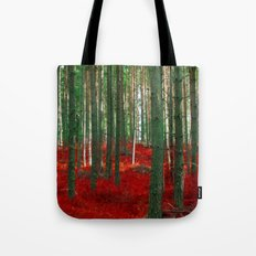 Red Forest Tote Bag