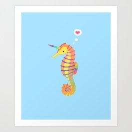 Sea-Unicorn Art Print