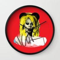 rupaul Wall Clocks featuring Rupaul  by HeyBun