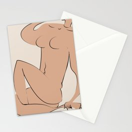 Nude leg day Stationery Cards