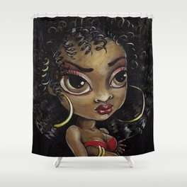 dISCO dIVA Shower Curtain