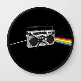 Dark Side of the Boombox Wall Clock