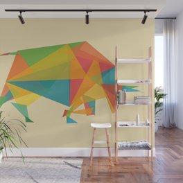 Fractal Geometric Bull Wall Mural