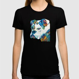 Colorful English Bulldog Art By Sharon Cummings T-shirt