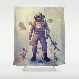 Deep Sea Garden - colour option Shower Curtain