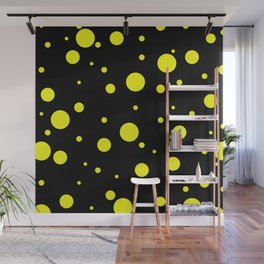 Yellow Bubbles Wall Mural