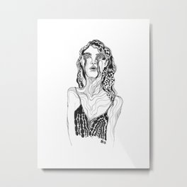 There Is Beauty in Your Emotions (monochrome) Metal Print