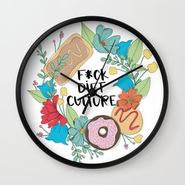F*ck Diet Culture Wall Clock