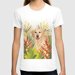 Golden Retriever Dog Garden T-shirt