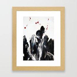 Blood and Tears Framed Art Print