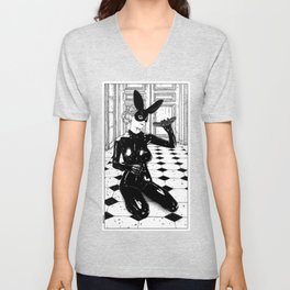asc 567 - La maison abandonnée (The old house was not empty) Unisex V-Neck