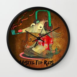 Mystic Tip Rats Wall Clock