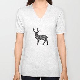 Venison Butcher Diagram-Deer Unisex V-Neck