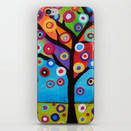 Whimsical Tree of Life Arbol la Vida Painting iPhone Skin
