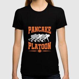Pancake Platoon Football Offensive Line T-shirt