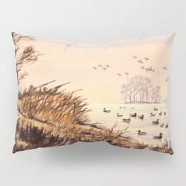 Duck Hunting Times Pillow Sham