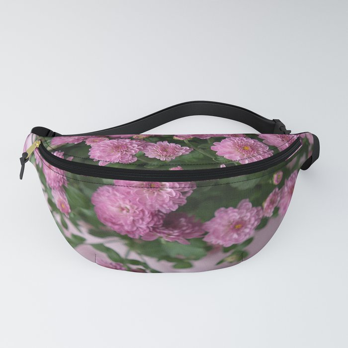 Pink mums Pink fabric Fanny Pack