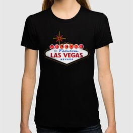 Vintage Welcome to Fabulous Las Vegas Nevada Sign on dark background T-shirt