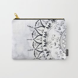 'If You Can't Control it Let it Go' Quote Mandala Marble Carry-All Pouch