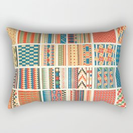 Egyptian Designs from Vintage Pattern Book Rectangular Pillow