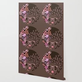 Afro Diva : Sophisticated Lady Pink Taupe Lavender Wallpaper