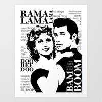 grease Art Prints featuring Grease by megpatton2