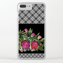 Rustic patchwork 2 Clear iPhone Case