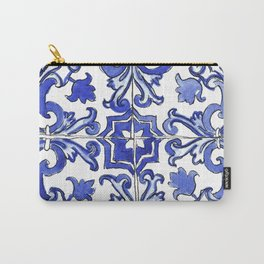 Blue and White Portuguese tile Carry-All Pouch