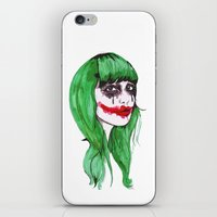 the joker iPhone & iPod Skins featuring Joker by Annaleigh Louise